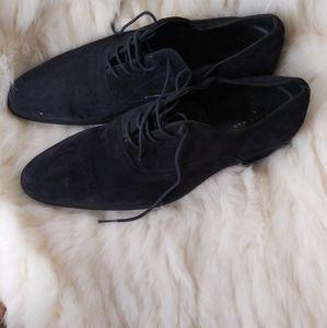 Zara man dark blue suede mens shoe size:10.5